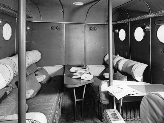 Inside the plane in 1930
