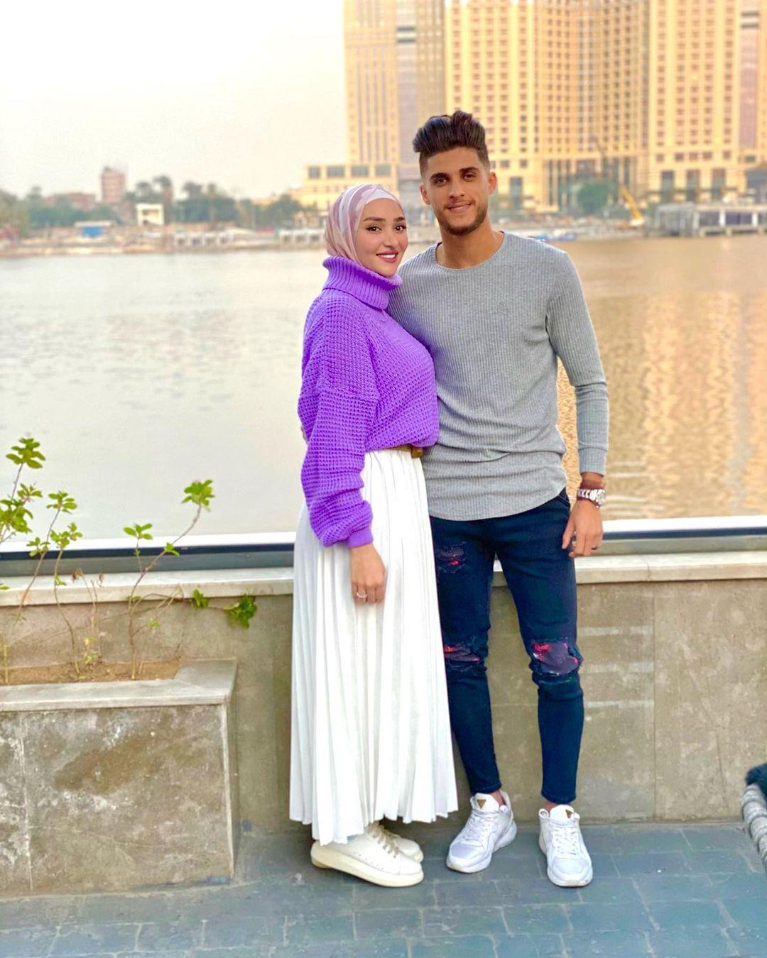 أحمد الشيخ وزوجته ندى