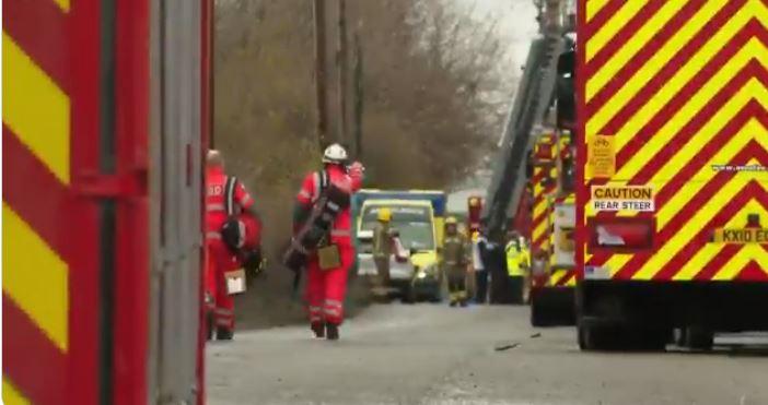 اللحظات الأولى بعد وقوع انفجار في مستودع بمدينة بريستول البريطانية