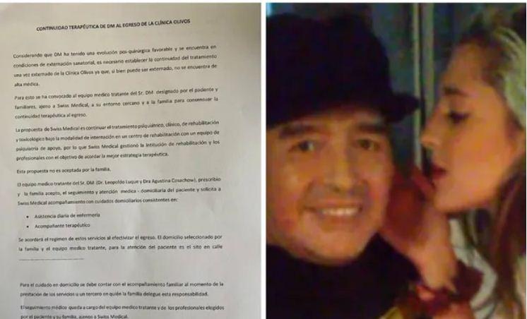 موافقة بنات مارادونا على خروجه من المستشفى
