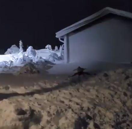 زلاتان إبراهيموفيتش  يفترش الثلج