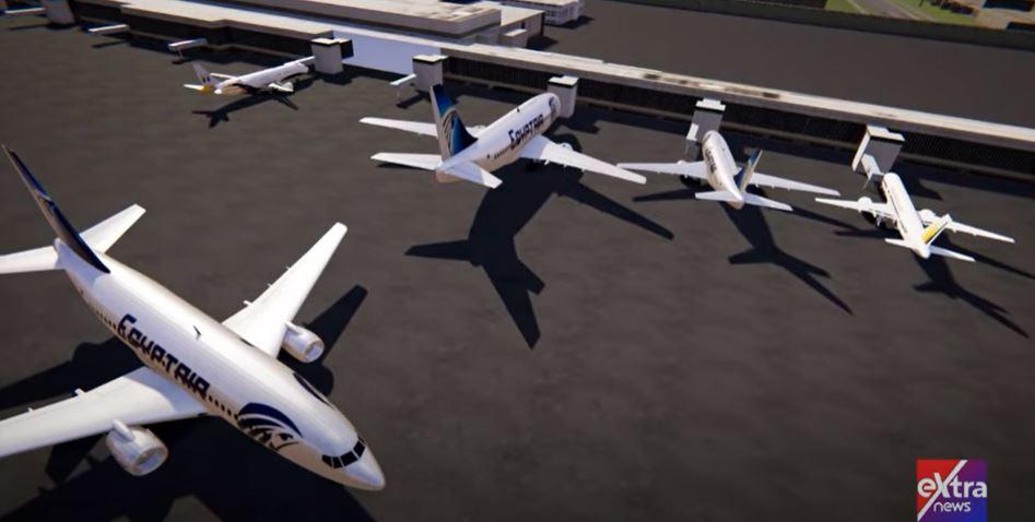 لقطة من فيديو ثلاثي الأبعاد لفضائية أكسترا نيوز
