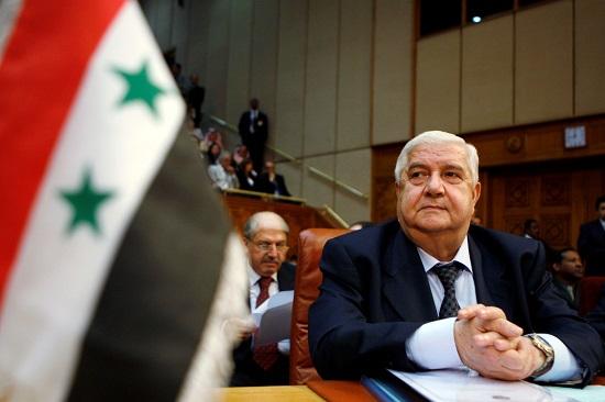 وليد المعلم وزير خارجية سوريا