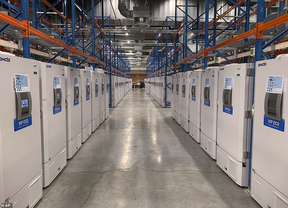 أجهزة التبريد لقحظ لقاح فايزر