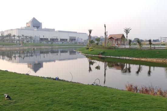بحيرة عين الصيرة بالقاهرة تتحول لجنة خضراء (8)