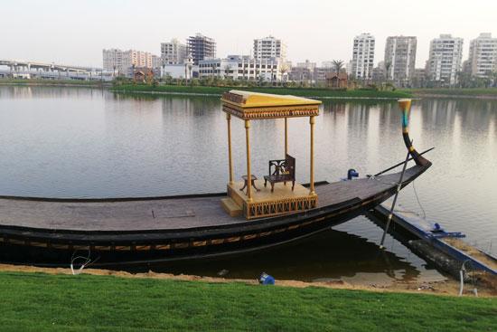 بحيرة عين الصيرة بالقاهرة تتحول لجنة خضراء (13)
