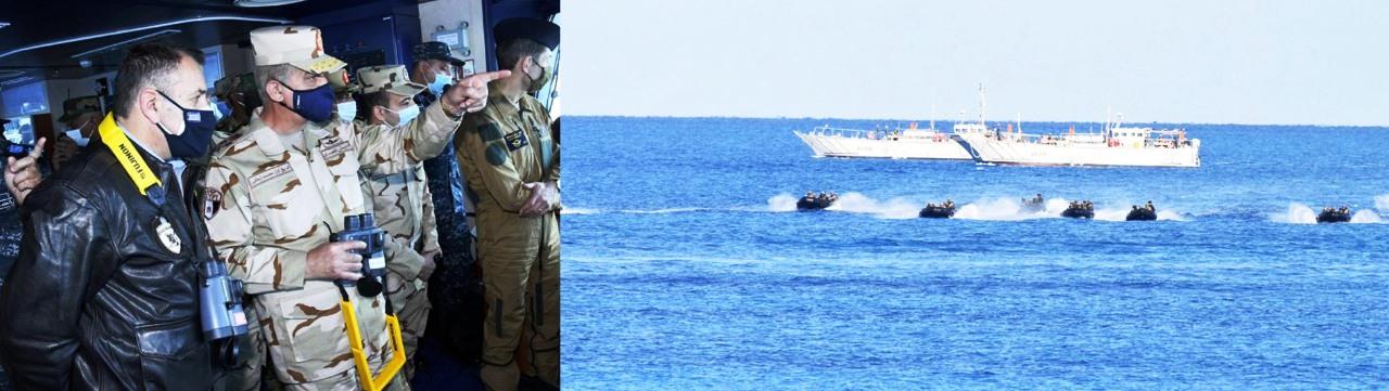 وزير الدفاع يشهد تدريب ميدوزا 10