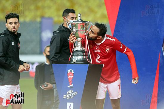 احتفال لاعبى الاهلى بكاس مصر (14)