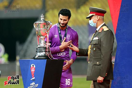احتفال لاعبى الاهلى بكاس مصر (11)