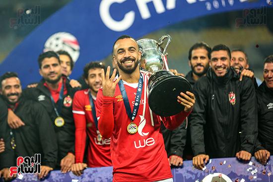 احتفال لاعبى الاهلى بكاس مصر (4)