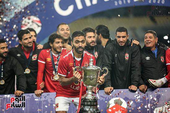 احتفال لاعبى الاهلى بكاس مصر (21)