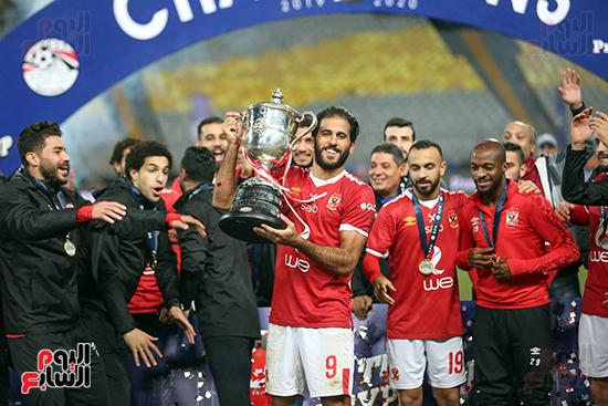 احتفال لاعبى الاهلى بكاس مصر (24)