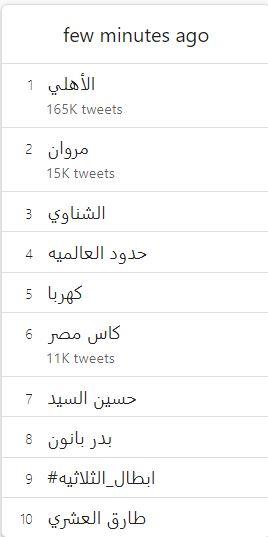 تريند الأهلى على تويتر