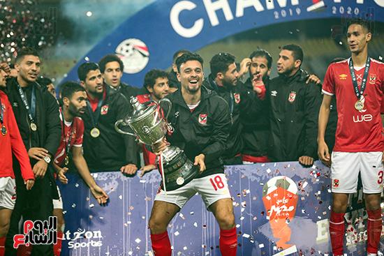 احتفال لاعبى الاهلى بكاس مصر (22)