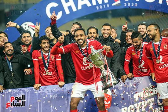 احتفال لاعبى الاهلى بكاس مصر (5)