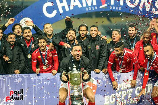 احتفال لاعبى الاهلى بكاس مصر (6)