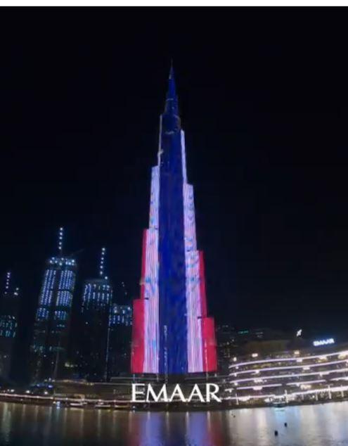 إضاءة برج خليفة بعلم تايلاند