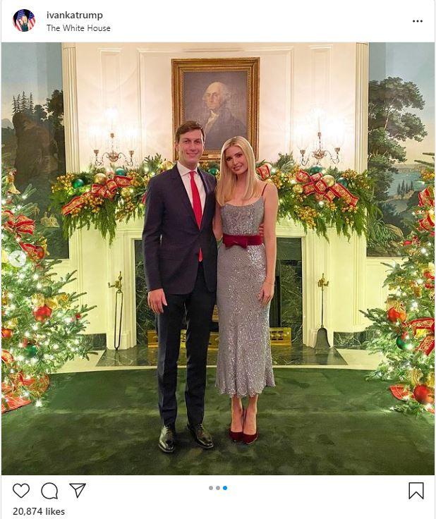 ايفانكا ترامب مع زوجها