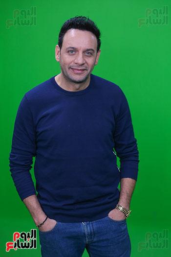 مصطفى قمر فى زيارة لتليفزيون اليوم السابع (14)