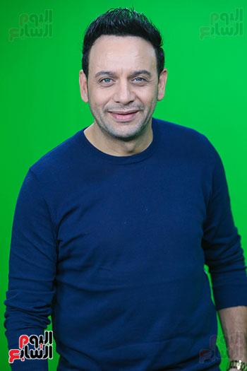 مصطفى قمر فى زيارة لتليفزيون اليوم السابع (16)