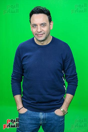 مصطفى قمر فى زيارة لتليفزيون اليوم السابع (15)