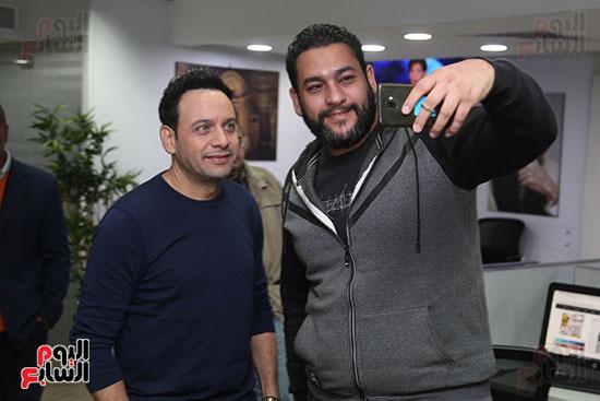 مصطفى قمر فى زيارة لتليفزيون اليوم السابع (4)