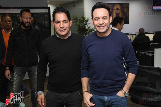 مصطفى قمر فى زيارة لتليفزيون اليوم السابع (3)