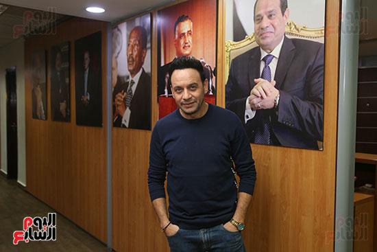 مصطفى قمر فى زيارة لتليفزيون اليوم السابع (12)
