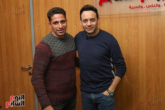 مصطفى قمر فى زيارة لتليفزيون اليوم السابع (21)