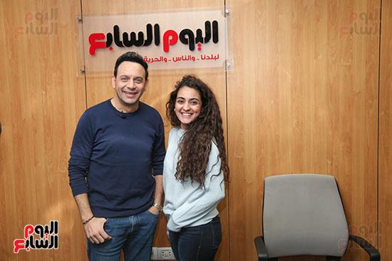 مصطفى قمر فى زيارة لتليفزيون اليوم السابع (19)