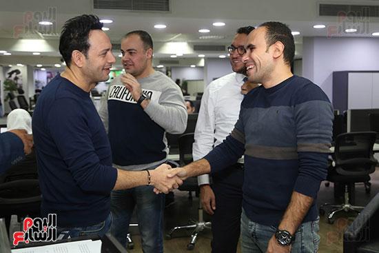 مصطفى قمر فى زيارة لتليفزيون اليوم السابع (2)