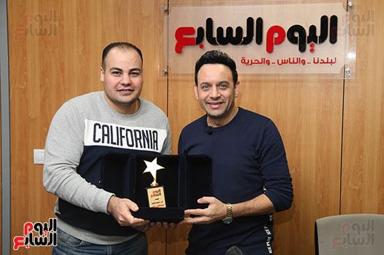 مصطفى قمر فى زيارة لتليفزيون اليوم السابع (22)