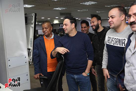 مصطفى قمر فى زيارة لتليفزيون اليوم السابع (7)