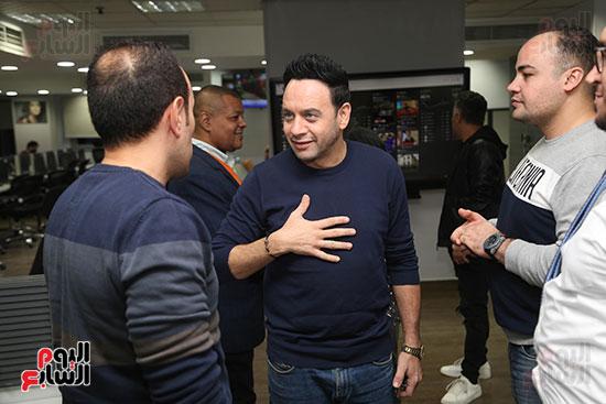 مصطفى قمر فى زيارة لتليفزيون اليوم السابع (1)