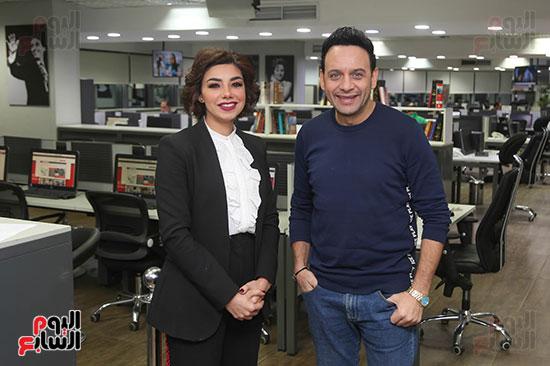 مصطفى قمر فى زيارة لتليفزيون اليوم السابع (8)
