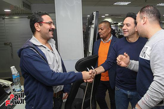 مصطفى قمر فى زيارة لتليفزيون اليوم السابع (6)
