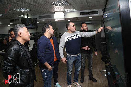مصطفى قمر فى زيارة لتليفزيون اليوم السابع (5)