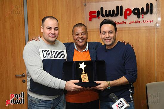 مصطفى قمر فى زيارة لتليفزيون اليوم السابع (18)