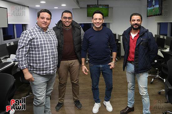 مصطفى قمر فى زيارة لتليفزيون اليوم السابع (11)