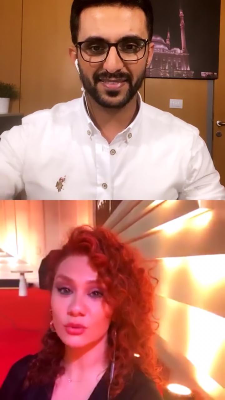 الفنانة السورية لينا شاماميان والزميل محمد أسعد  (4)