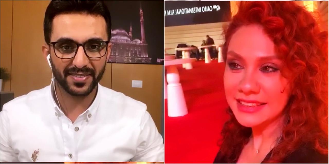 الفنانة السورية لينا شاماميان والزميل محمد أسعد  (1)