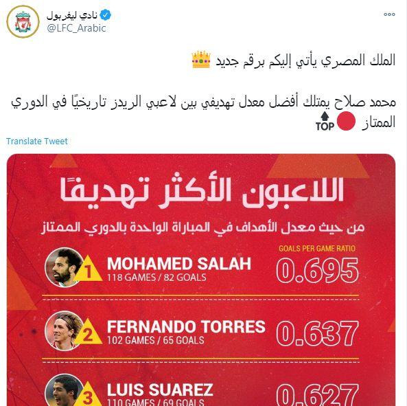 حساب ليفربول على تويتر