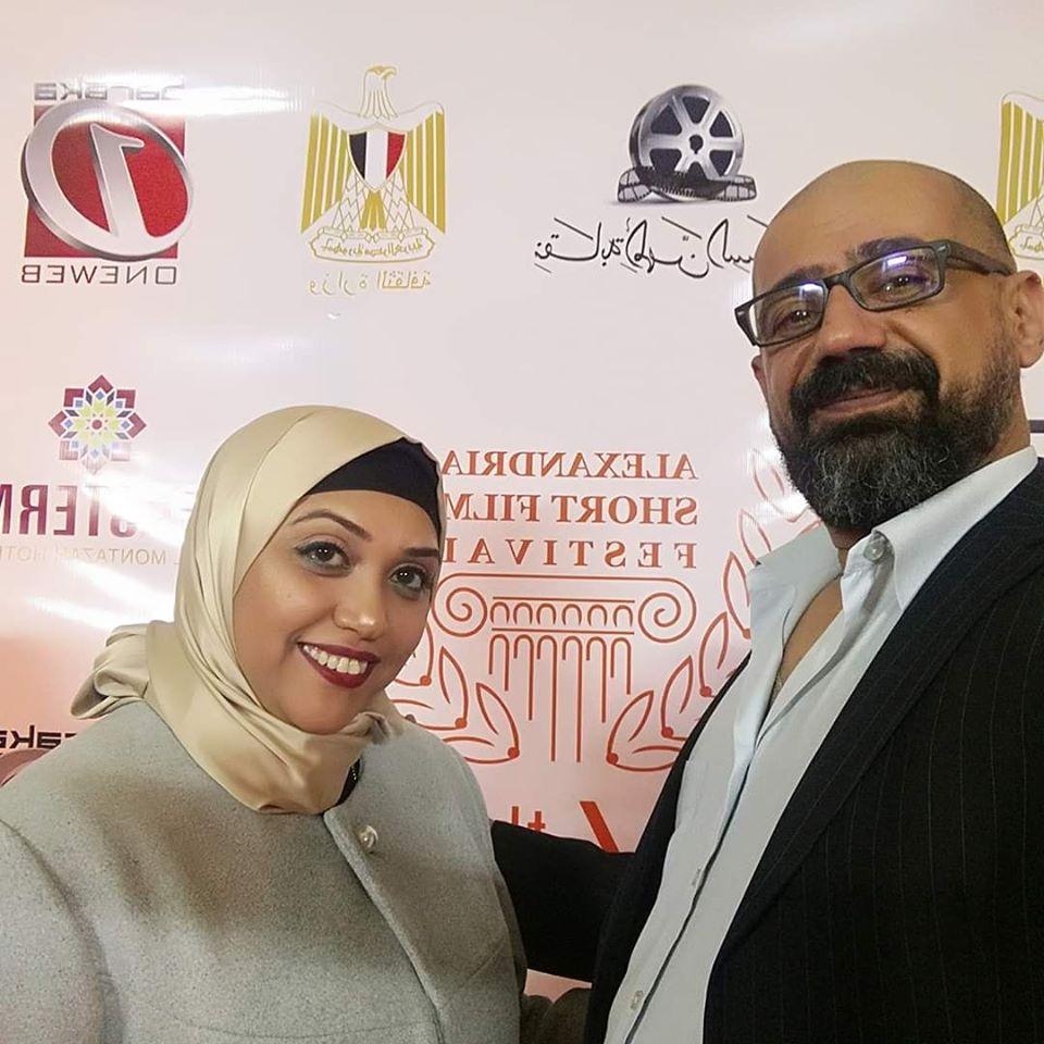رحاب بدر وزوجها أيمن فى أخر صورة لهما