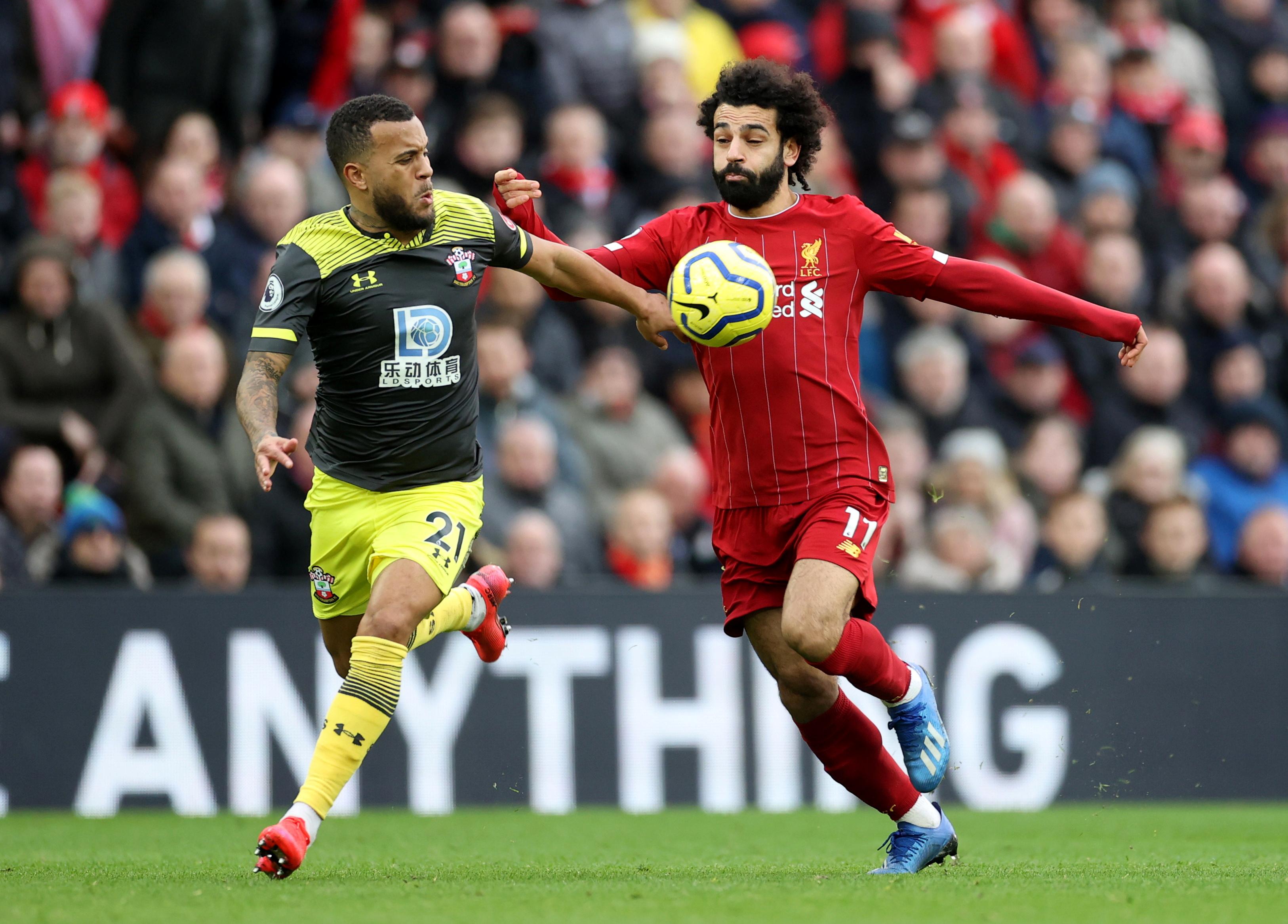محمد صلاح في مباراة ليفربول ضد ساوثهامبتون (3)
