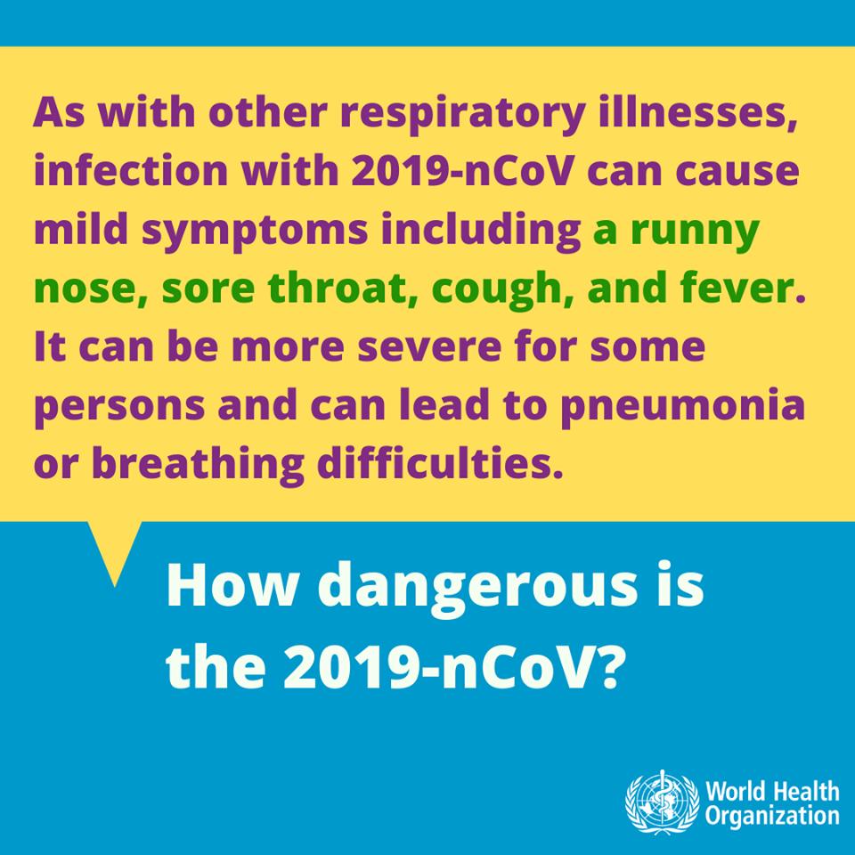 اعراض الاصابة بفيروس كورونا