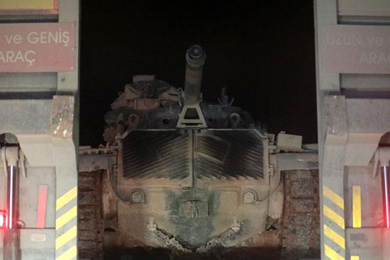 إحدى الدبابات التركية