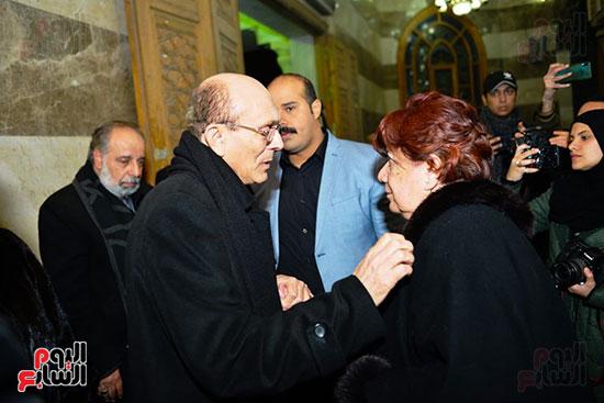 محمد صبحى فى عزاء لينين الرملى