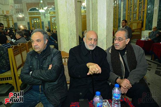 محمد ابو داوود فى عزاء لينين الرملى (2)