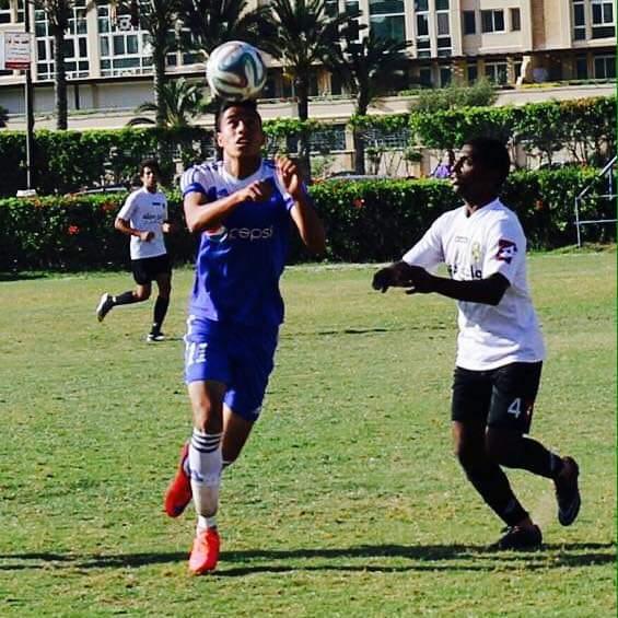 احمد سعد في احدى المباريات