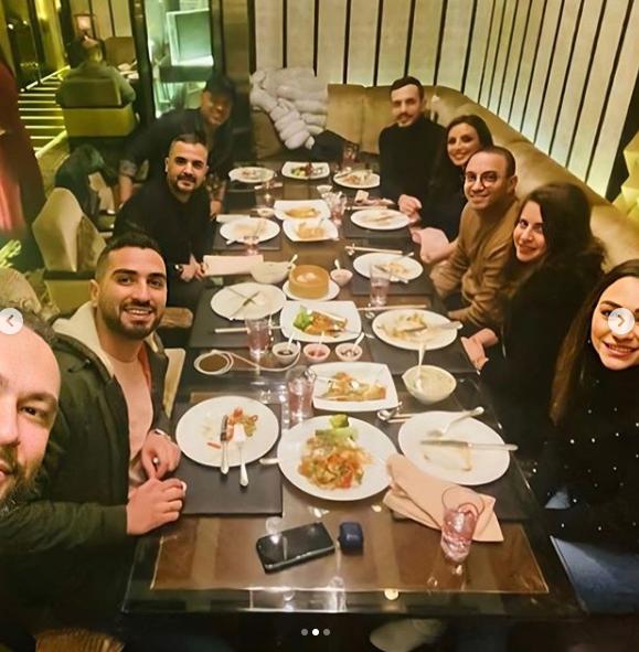 انغام تحتفل بعيد ميلاد زوجها